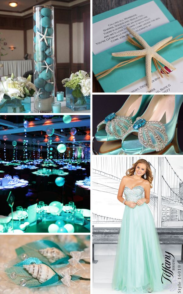A soft shade of mint and sparkle tulle skirt makes this for 80s prom decoration ideas