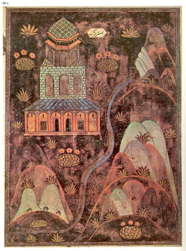 Başsız Kümbet-Matrakçı Nasuh-Beyan-i Menazil-i Sefer-i Irakeyn-i Sultan Suleyman, written circa 1537. (Istanbul University Library)