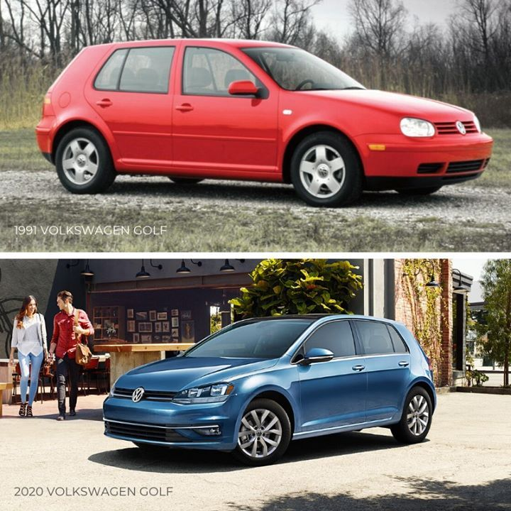 Tbt 1991 Vw Golf Vs 2020 Vw Golf In 2020 Bmw Car Vw Golf Volkswagen