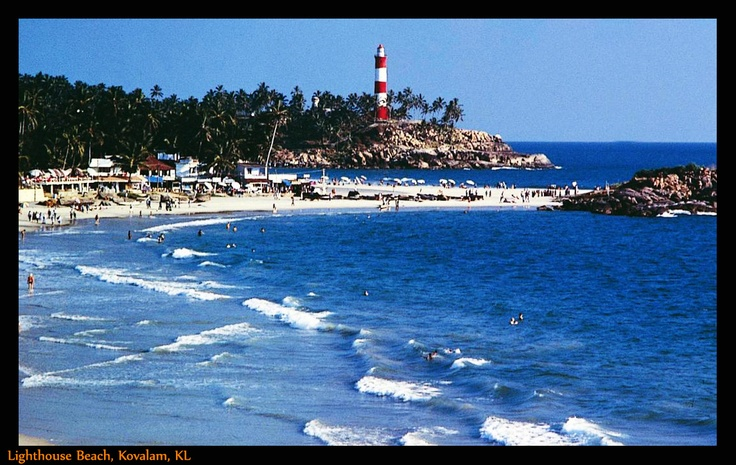 Lighthouse Beach, Kovalam, Kerala:    In the extreme south of Kovalam is the magnificent Lighthouse Beach.   • Distance from City: Within city limits.  • Season: Sept to Mar.  • Highlights: The name comes from the towering Vizhinjam lighthouse which is built on a rocky headland.   • Nearby Places: Samudra & Hawa Beach.