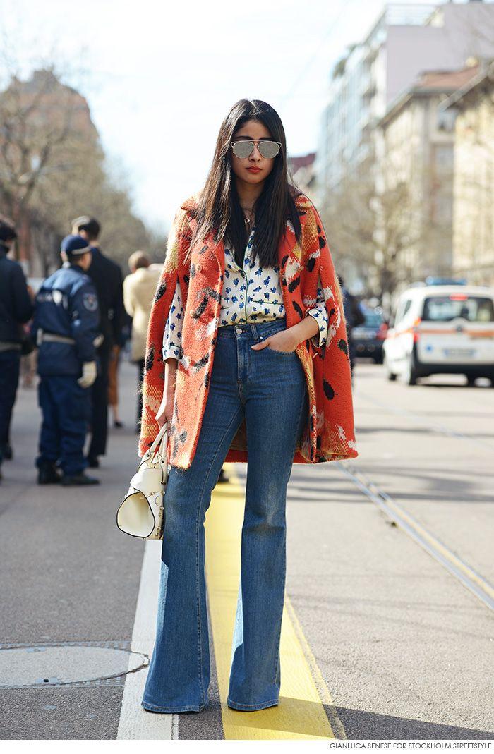#StreetStyle -- jeans, shirt, coat
