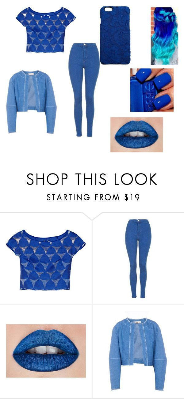 Pretty Blue by whitenoiseiswatching on Polyvore featuring Milly, FLOW the Label, Topshop and Dolce&Gabbana