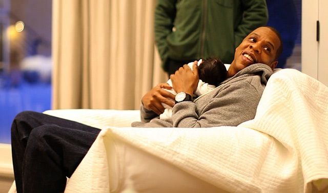 """Hip-hop heavyweight Jay-Z was so overwhelmed by Blue Ivy's arrival that he immediately recorded """"Glory."""""""