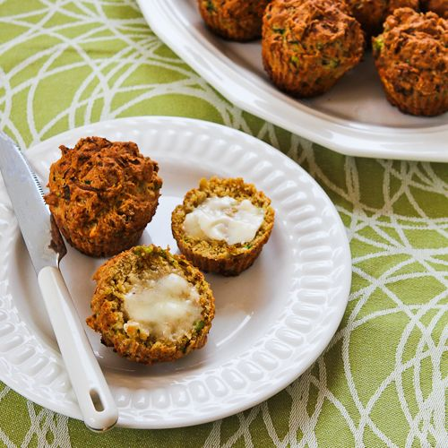 Recipe for Savory Zucchini Muffins with Feta, Parmesan, and Green Onions