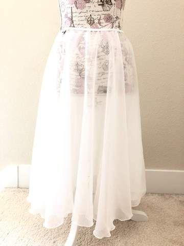56e1904fc0 New】【Silky White】Rehearsal long flowy skirt | long rehearsal ...