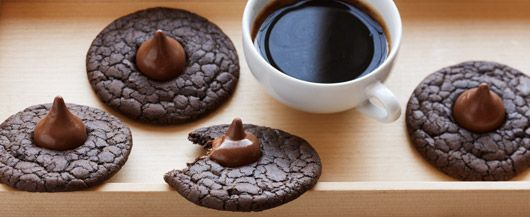 Dark Chocolate Espresso Cookies made with #DuncanHines Dark Chocolate ...