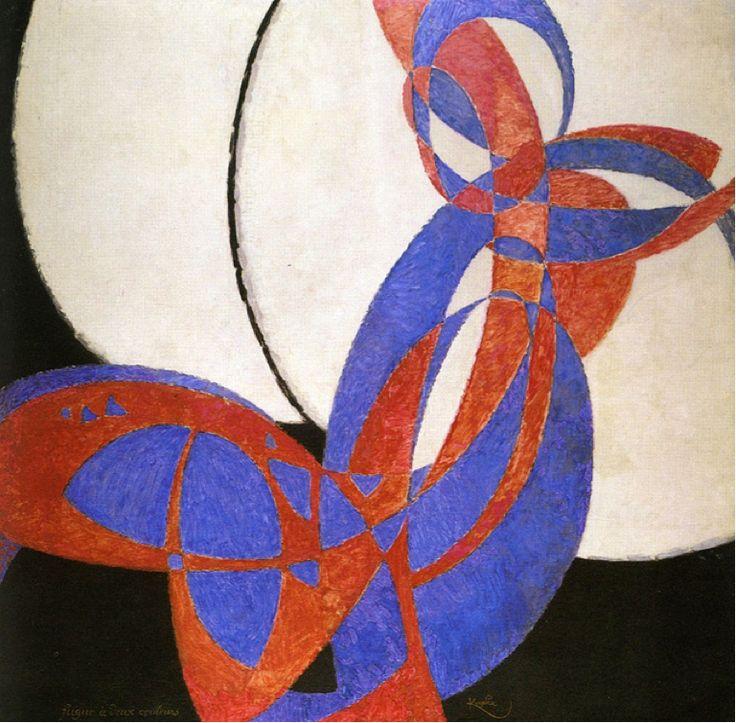 Les Illusions perdues (František Kupka (Amorpha, fugue...) > formes ample et élégante = s'oppose à la volonté d'appauvirssement de MALEVICH
