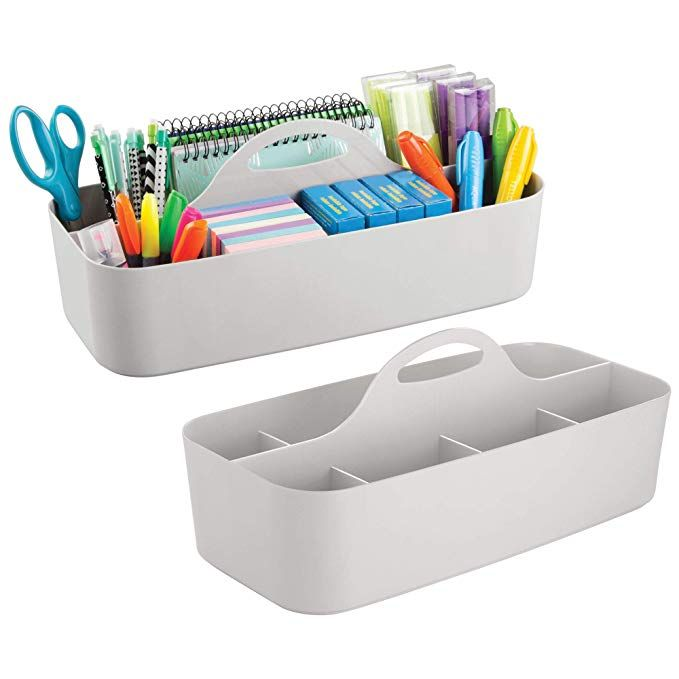Mdesign Large Office Caddy Storage Container Organizer Tote With