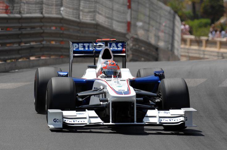 Robert Kubica in a BMW Sauber at the 2009 Monaco Grand Prix.