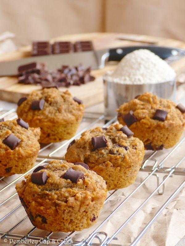 Sugar Free ★ Whole Wheat Chocolate Chunk Pumpkin Muffins {Muffins ...