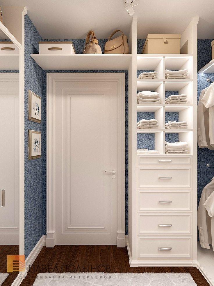 Фото дизайн интерьера гардеробной комнаты из проекта «Дизайн 4-комнатной квартиры 162 кв.м. в ЖК «Платинум», стиль неоклассика»