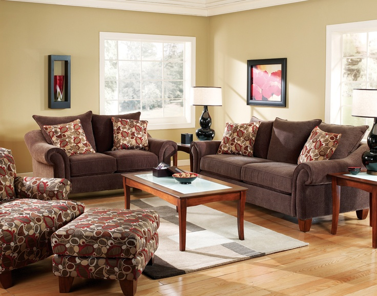 Reese Red Sofa and Loveseat Package: Copper Sofas, Idea, Red Sofas, Color, Brick Red, Red Couch, Living Rooms Furniture, Accent Chairs, Loveseats Packaging