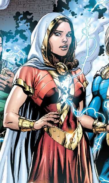 She is the twin sister of Earth's mightiest mortal, the heroic Captain Marvel. By uttering the name of the wizard Shazam, Mary is granted the power of the greatest Olympian Gods and the Biblical Solomon becoming Mary Marvel.
