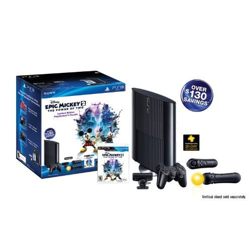 PS3 Slim 250GB Epic Mickey: Power of 2 Bundle (PlayStation 3) - #games