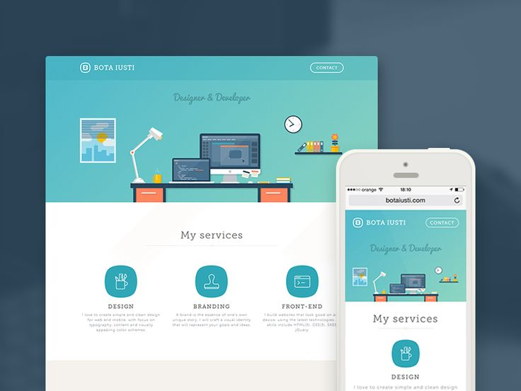 Personal Website Redesign by Bota Iusti