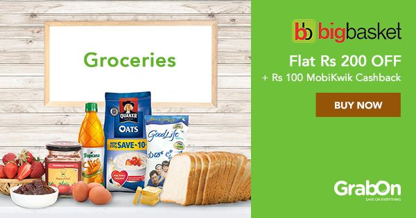 This #IPL, we bring you an Exclusive #Bigbasket #Coupon to save Big on Grocery!  #Grocery #foodie #offers #india #MobiKwik