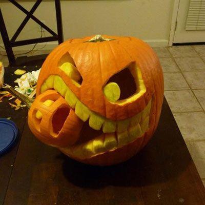 Halloween Ideen 2013: Kürbis Gesichter schnitzen: Halloween Kürbis Gesichter…