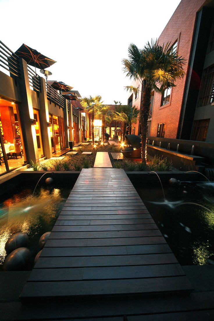 Fusion Boutique Hotel is the first five star boutique hotel in Polokwane, South Africa.  The hotel received the 'World Luxury Hotel Award' in 2010 for the best 'Luxury Suite Hotel' in South Africa. Designed by Mathews and Associates Architects. Completed in 2009. Photograph courtesy Fusion Boutique Hotel