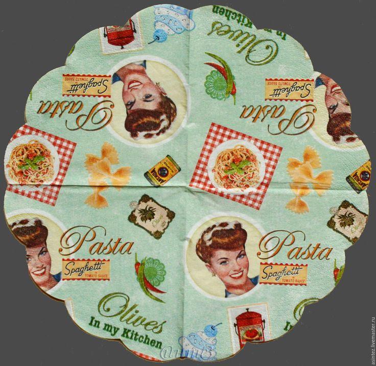 Купить салфетки для декупажа винтажный американский pin up кафе бар принт - салфетка для декупажа