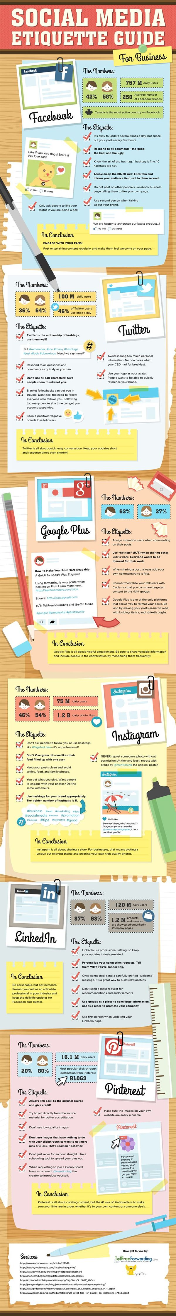This guide will help you on social media sites.  38 Social Media Etiquette Rules You Must Follow