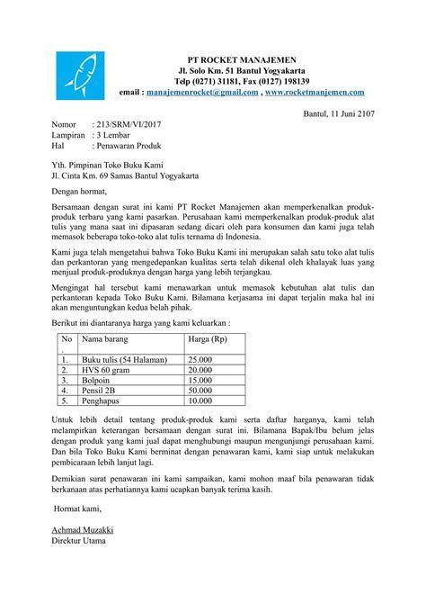 Contoh Surat Penawaran Alat Tulis Sekolah Kumpulan Surat Penting