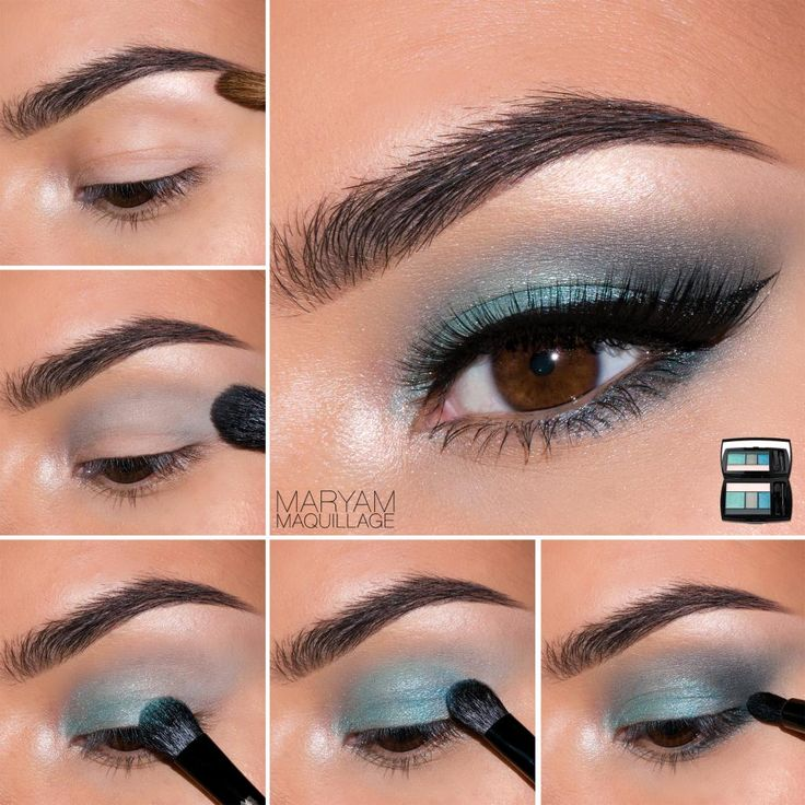 Teal Smokey Eye How-To #makeup #tutorial