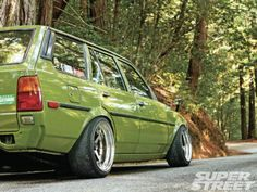 1983 Toyota Corolla Wagon E70. We're in love with the color.
