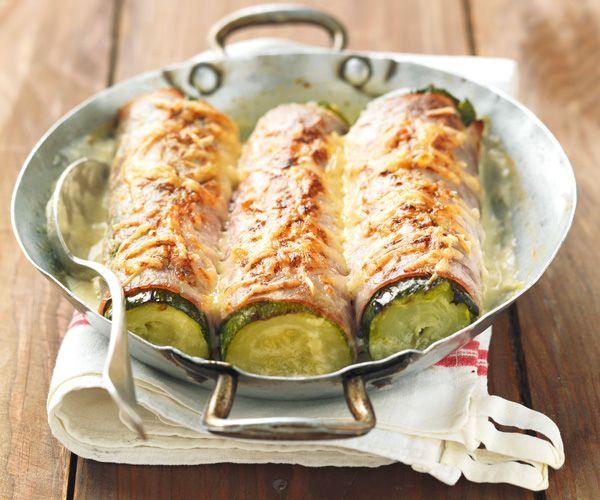 Courgettes gratinées au jambon