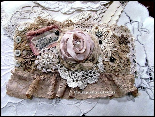 I was the winner of this gorgeous lace Cuff from Suzy's blog! It is so beautiful in person! ~ Betsy