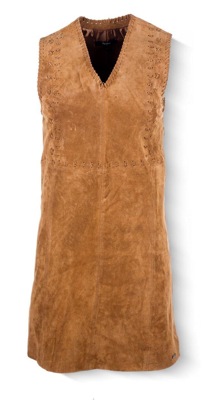 Pepe Jeans - kožené šaty