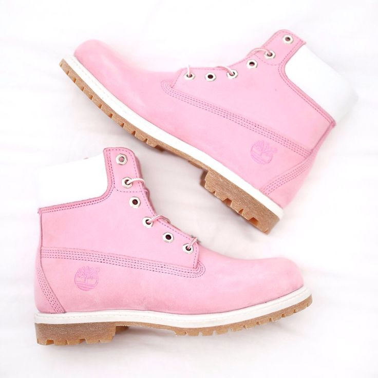 Pink Timberlands are everything