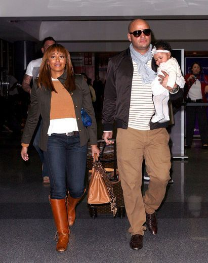 Mel B, daughter and hubby Stephen Belafonte