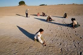 Image result for aboriginal footprints mungo
