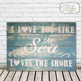 LOVE this rustic hand-made wooden BEACH sign Made by Ethical Village