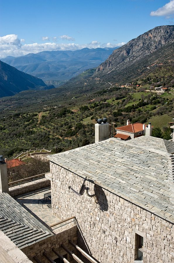 The magnificent complex of Elafivolia Arahova #Suites is strategically placed between the #cosmopolitan village of #Arahova and the archeological miracle of #Delphic oracle
