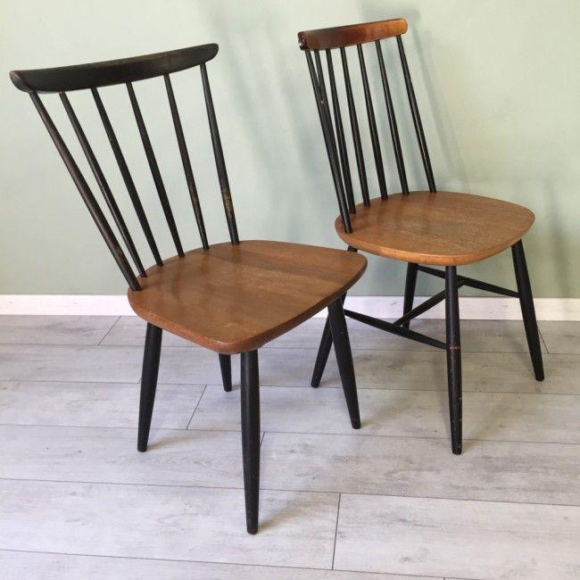 Une paire de Chaises Bistrot Tapiovaara 1950