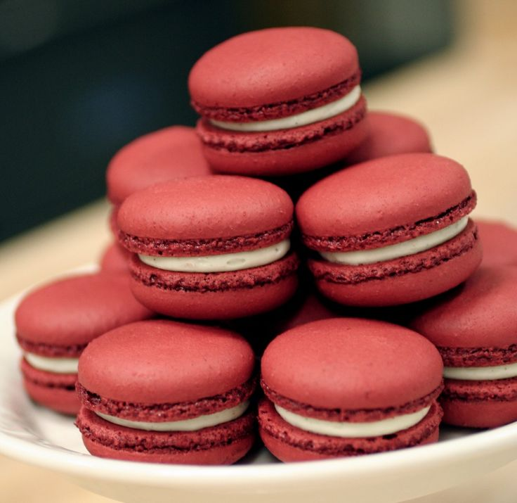 Red Velvet Macarons are the perfect Valentine's dessert