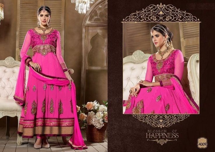 Designer Anarkali Salwar Kameez Suit, Semi Stitched Dress Material 4009