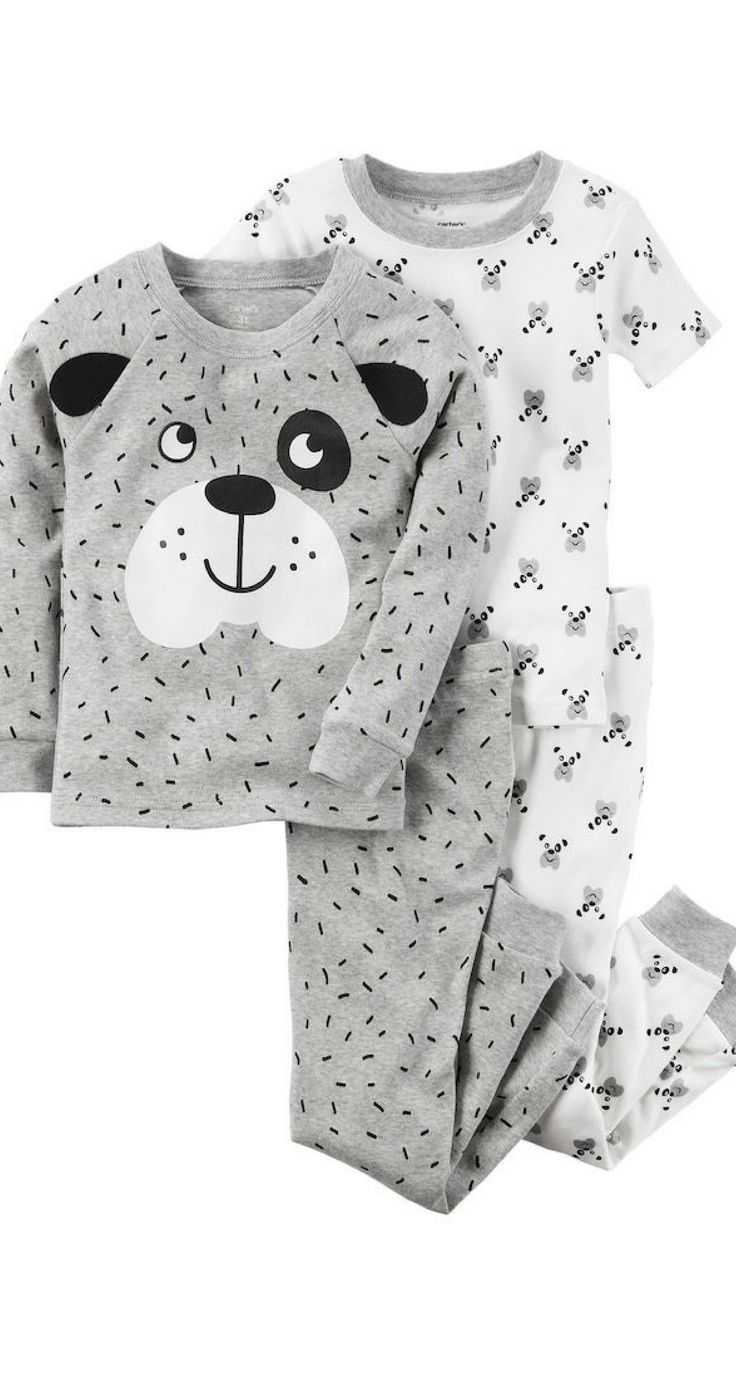 This boys' Carter's pajama set features long- and short-sleeved tops with adorable dog graphics for a dog-gone cute look! #boyclothing #boyfashion #shopping #ad #baby #toddler #love #style