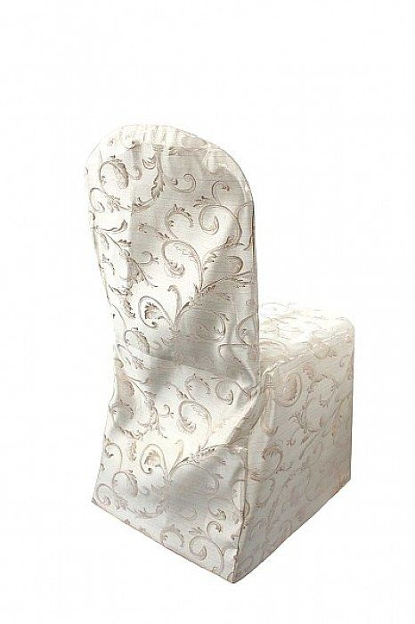 Ivory Damask Chair Cover To Dress Up Within Minutes And With Minimal Fuss