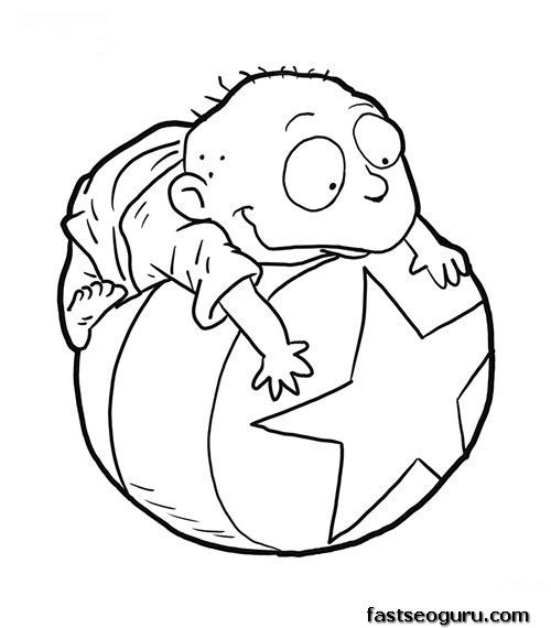 chucky from rugrats tommy from rugrats coloring page coloring pages for kids - Rugrats Characters Coloring Pages