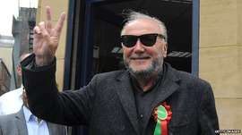 This odious little man, George Galloway, is standing for the Respect party in Bradford West