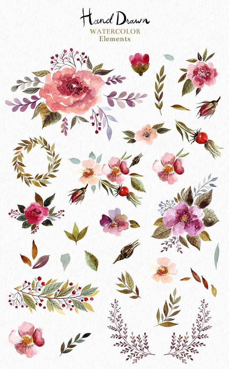 Big Watercolor Bundle by MoleskoStudio on @creativemarket