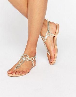 ASOS - FIZZ - Sandales tressées à entredoigt