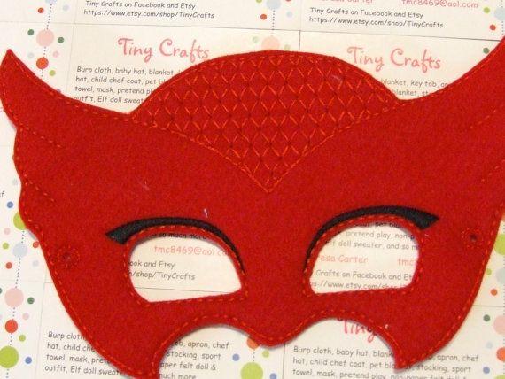 Pyjama héros que hibou rouge dinspiration masque de par TinyCrafts