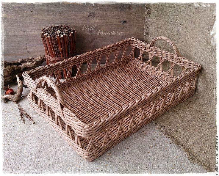 """Купить """"Завтрак в Провансе"""" Поднос плетеный - поднос для кухни, поднос для…"""