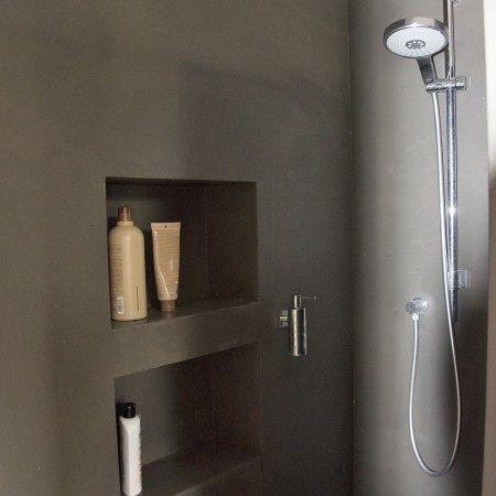fugenlose dusche mit nischen wohnen pinterest ein and in. Black Bedroom Furniture Sets. Home Design Ideas