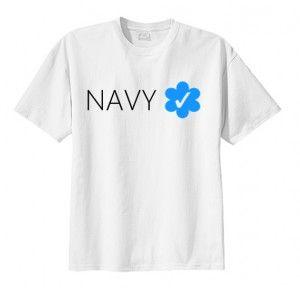 T-shirt koszulka NAVY VERIFIED fan shirt print napis nadruk bluzka moda męska damska unisex oryginalna