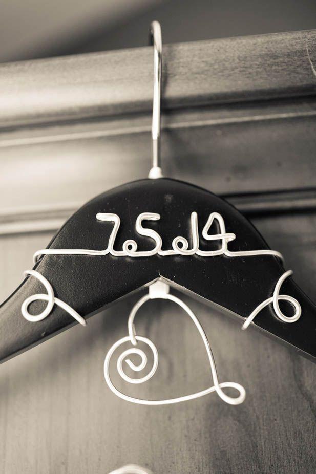 Custom wedding dress hanger with the wedding date
