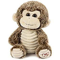 HollyHOME Super Soft Stuffed Animal Cute Monkey Plush toy Valentine Gift for girl friend, 8 inches, Brown